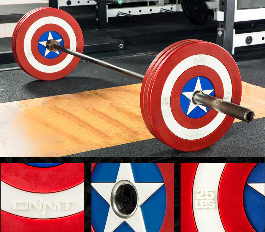 Captain America Shield Urethane Barbell Plates by Onnit