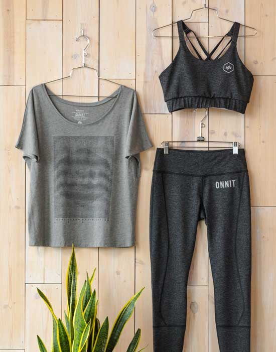 Curated performance wear outfit for women, 1 of 3