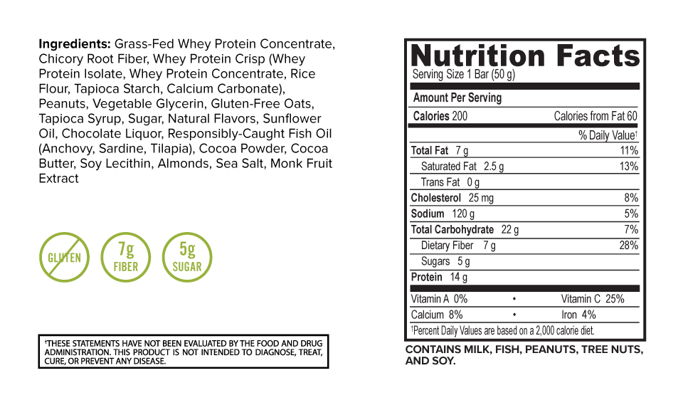 Oatmega Chocolate Peanut Crisp Protein Bar