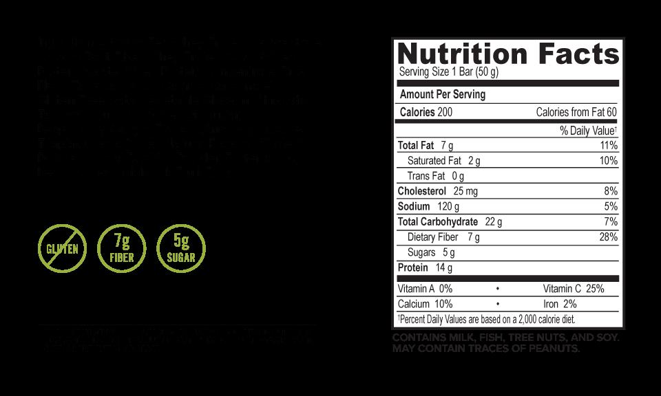 Oatmega Vanilla Almond Crisp Protein Bar