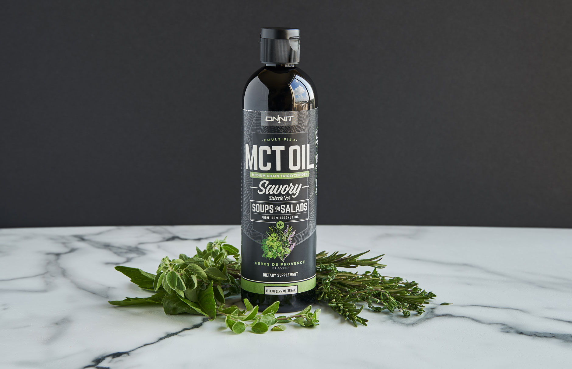 Onnit Savory Emulsified MCT Oil, Herbs de Provence Flavor